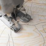 Cutting corners with the jig saw.