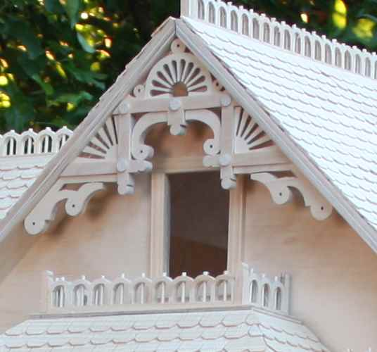 gable of Victorian Dollhouse woodworking plan