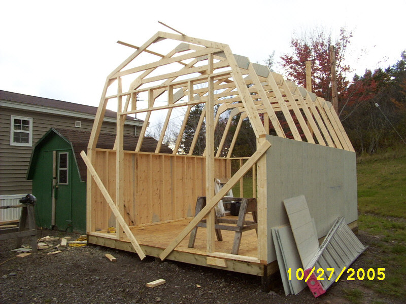 Baby barn shed construction.