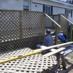 Lattice wrapped deck