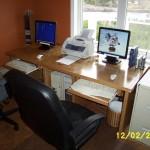 Desk completed.