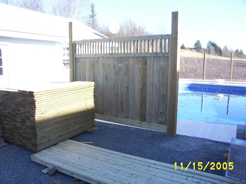 Custom fence panel.