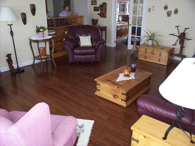 Remodel with hardwood flooring.