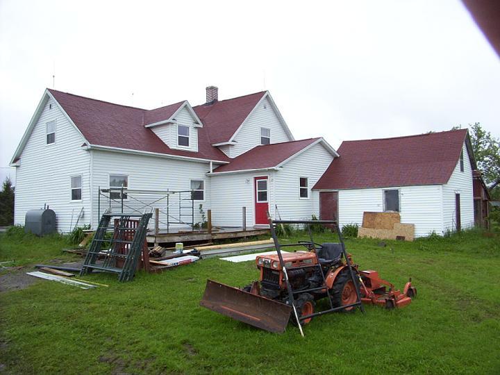 Old farmhouse reshingle.