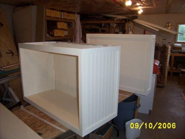 Both kitchen island cases built.