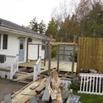Mid way through deck demolition.