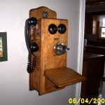 Refinished telephone.