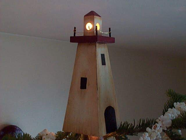 Christmas Tree Lighthouse Topper.