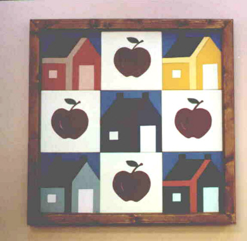 Intarsia - Apples and Houses