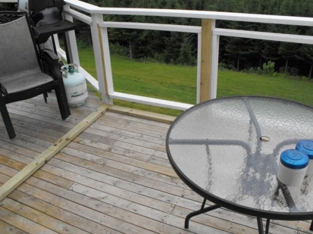 Sunroom deck construction 2