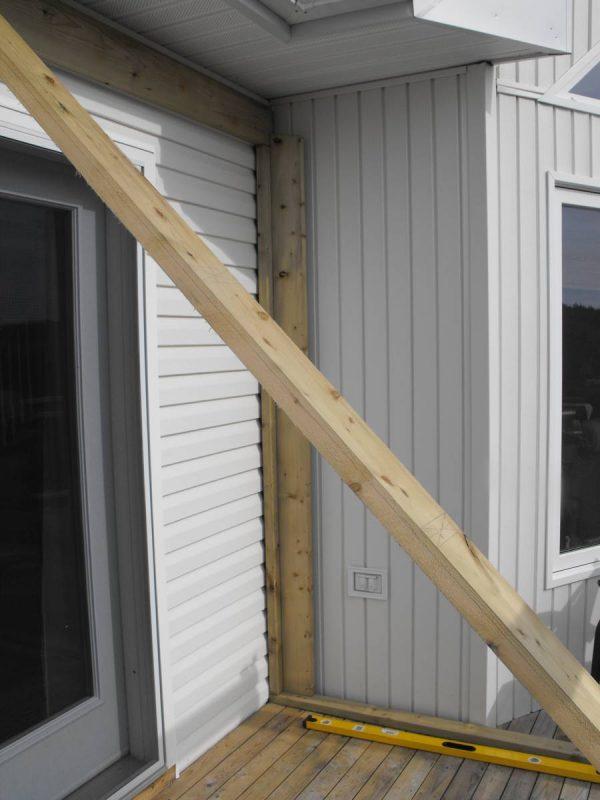Sunroom deck construction 10