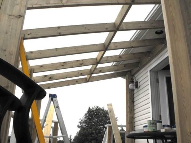 Sunroom deck construction 16