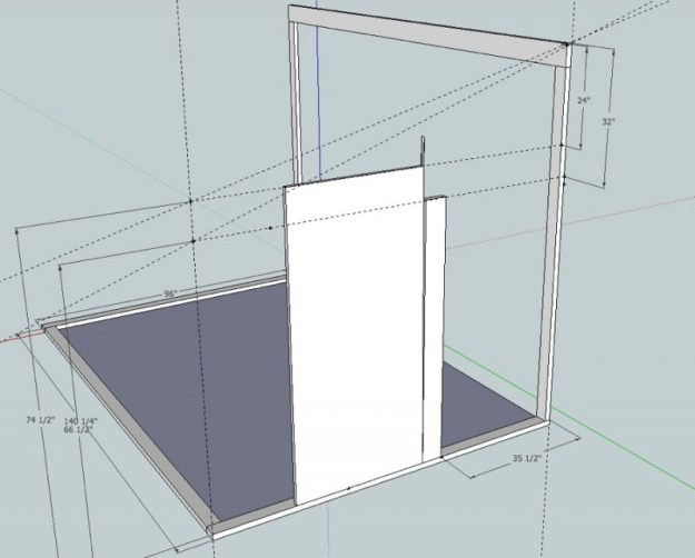 Sunroom Sketchup drawing 4