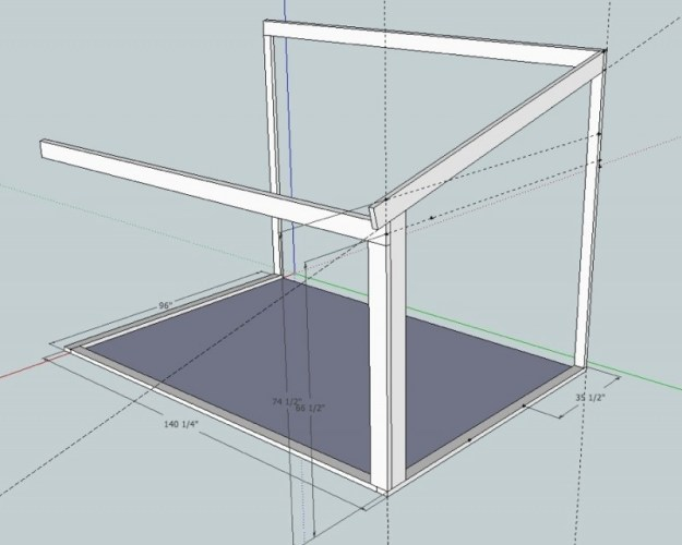 Sunroom Sketchup drawing 6