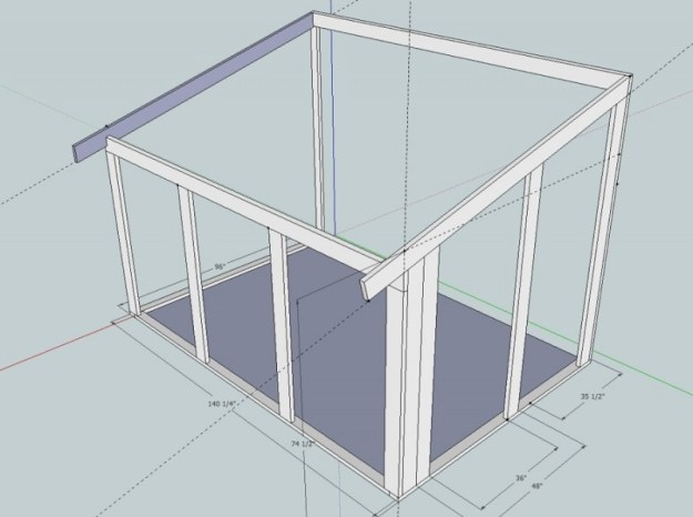 Sunroom Sketchup drawing 7