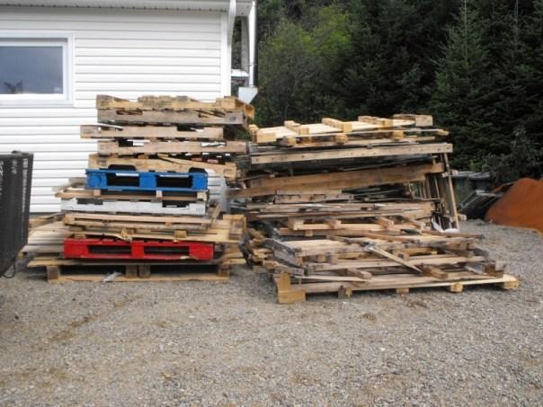 Firewood cribs.