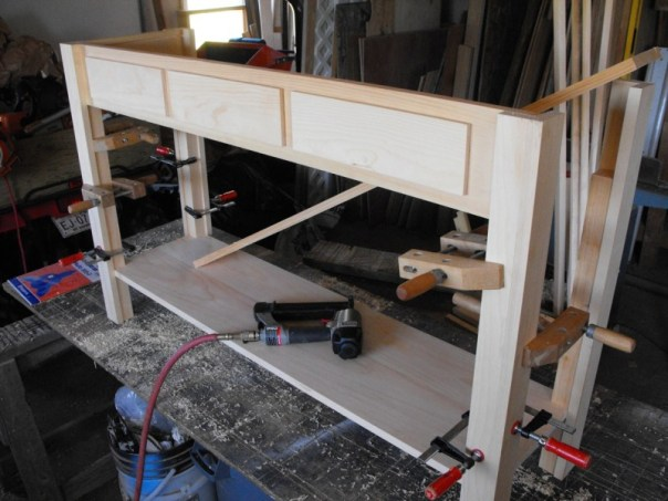Woodworking project building a sofa table
