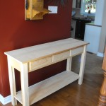 Pine sofa table woodworking project