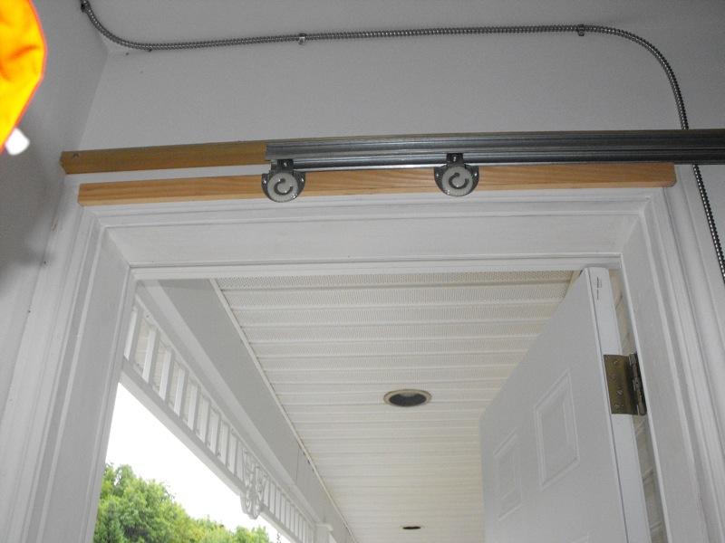 Silding screen door - test fit the sliding wheels