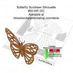 butterfly silhouette,scrollsaw patterns,PDF downloads,butterflies