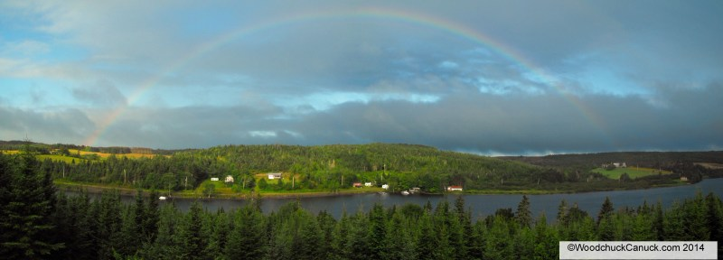 lake,rainbows,panoramic,Loch Katrine,Nova Scotia