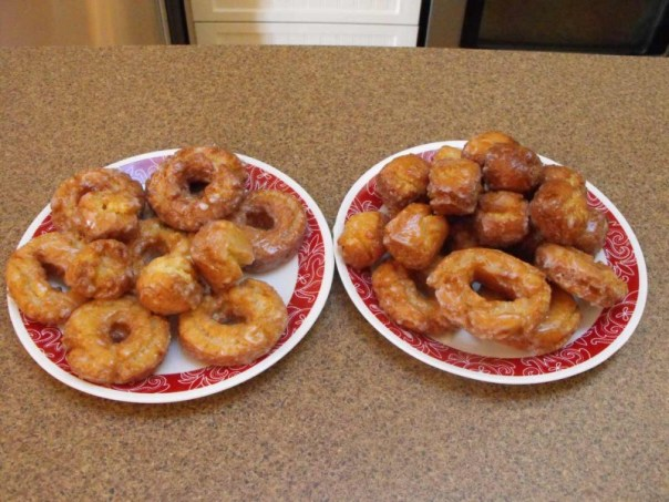 Sour crem cake donuts and lemon Jim Bits,baking at home
