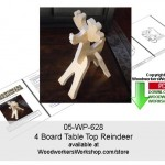 woodworking plans, tabletop reindeer