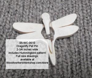 Dragonfly Pet Pins with Bonus Hummingbird Scrollsaw Pattern PDF