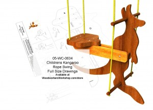 Childrens Kangaroo Rope Swing Woodworking Plan,woodworking plans,patterns,projects