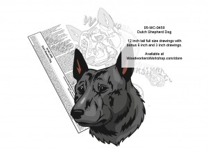 Dutch Shepherd Dog Scrollsaw Intarsia or Yard Art Woodworking Pattern,woodowrking plans,scrollsawing patterns