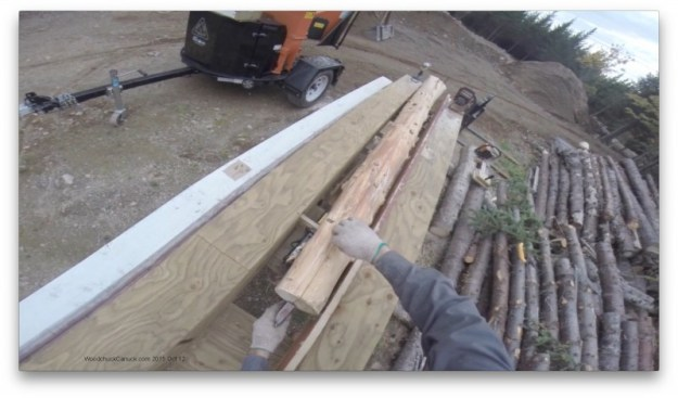logs,chainsawing,snap lines,chalk,chaulk