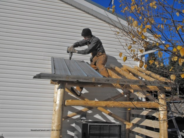 metal roofing,log shelters,sturctures,diy,heat pumps