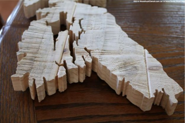 Nova Scotia wood map 11,scrollsawing,woodworking projects,balsam fir trees,forestry,locally harvested