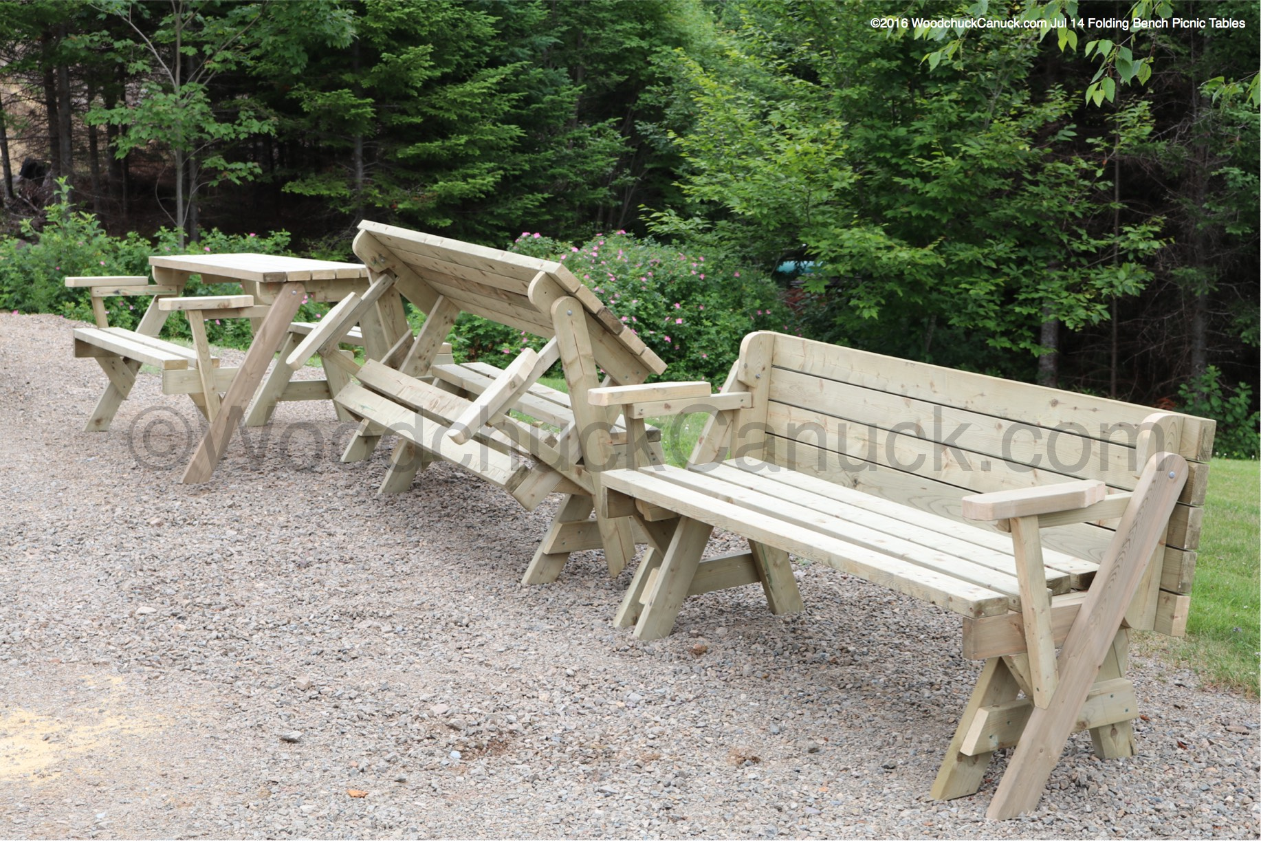 Folding Bench Picnic Table 6ft - WoodchuckCanuck.com