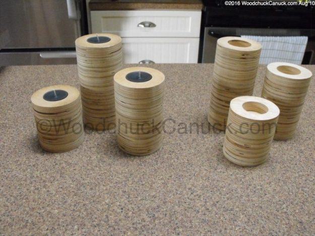 candleholders,plywood scraps,woodworking