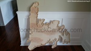 wooden maps,Newfoundland