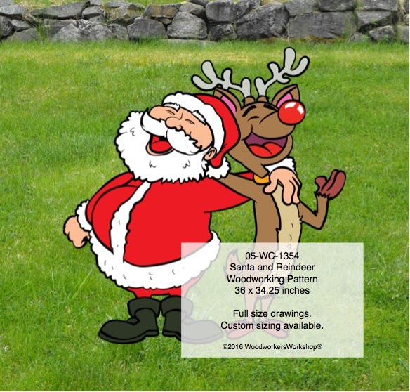 Santa Claus,Rudolph the reindeer,singing,caroling
