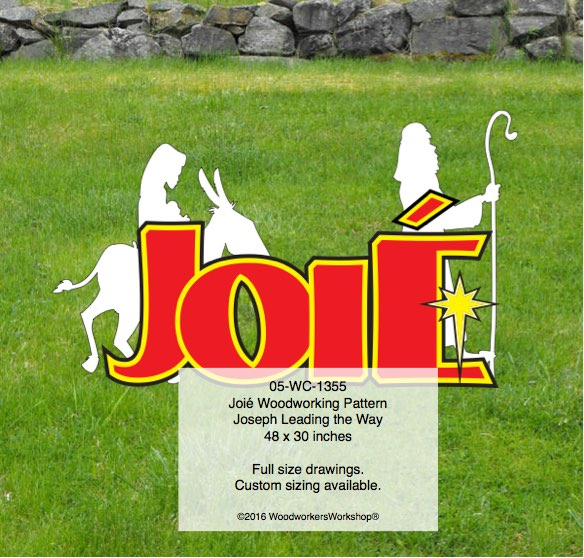 Joié,Joyful,French,woodworking patterns,yard art decor,Mary,Joseph