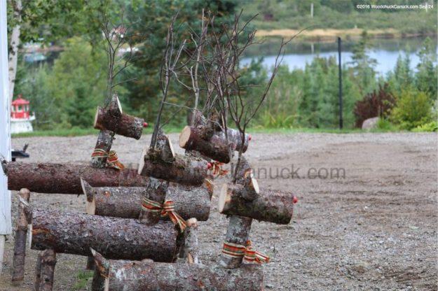 log reindeer,small business,made in Nova Scotia,local crafts