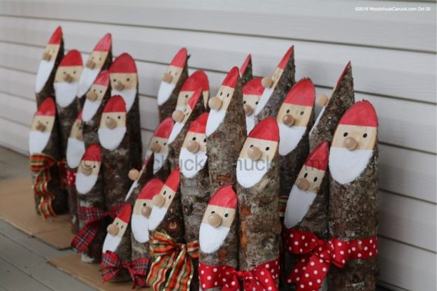 Santa Claus,logs,wood crafts