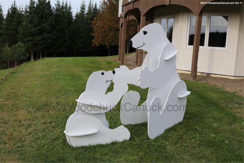 3D polar bears,wood crafts,stores flat pack,animals,wood crafts, made in Nova Scotia