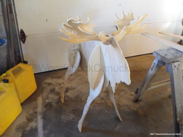 3D moose,plywoodworking,wildlife