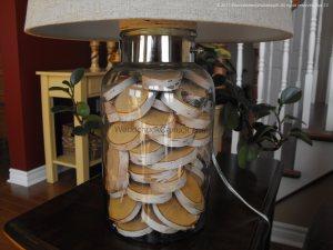 Decorative use of birch slices
