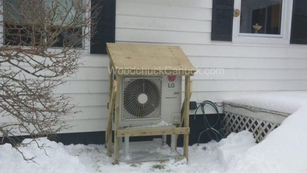 heat pump shelter build