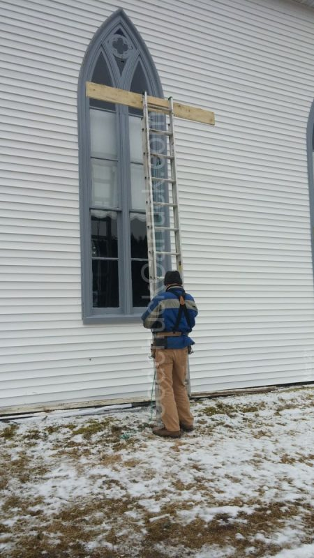 church repairs,wind damage,church windows