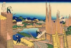 logging,vintage drawings,Japanese culture