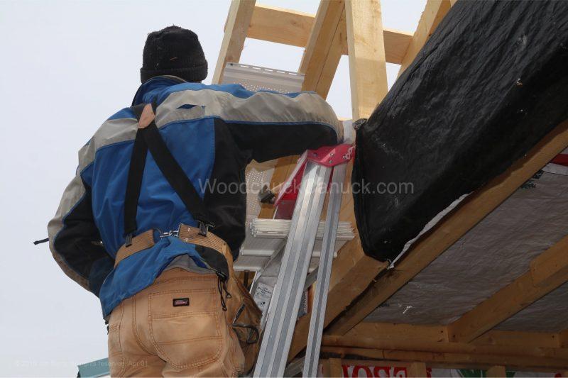 kiln shed,strapping,tarps,soffit
