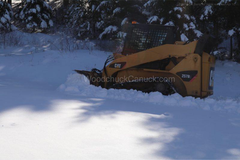 skidsteer,plowing,snow