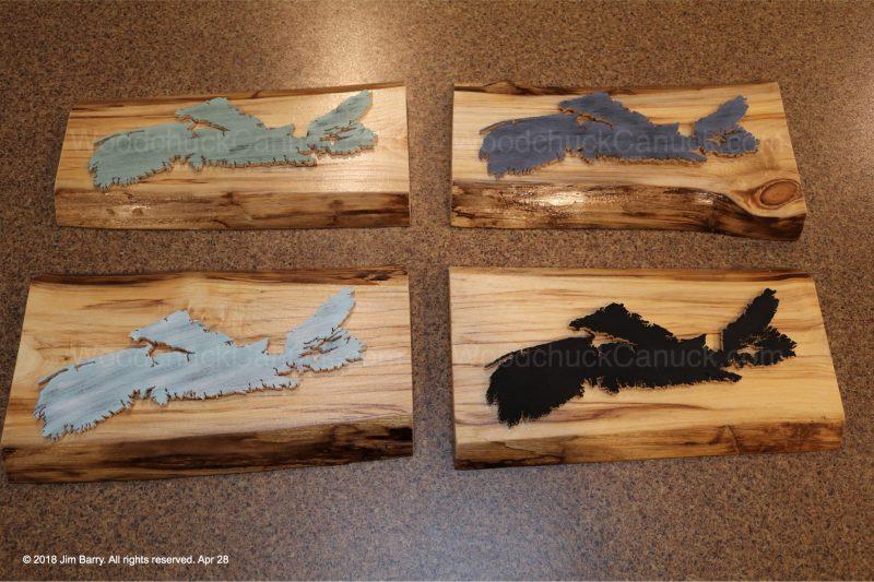wooden maps,Nova Scotia