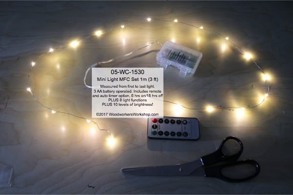 mini lights,fairy lights,LED Mini Light Set 1 m Warm White MFC with Remote,string lights